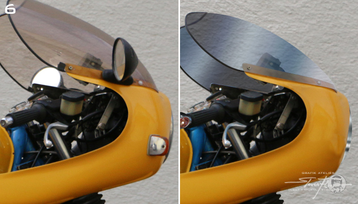 Virtual Tuning '78 BMW R100 Cafe Racer - Frontverkleidung und Scheibe / Fairing Front and Windshield