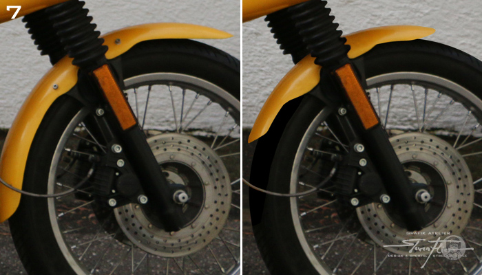Virtual Tuning '78 BMW R100 Cafe Racer - Front Fender