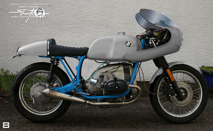Virtual Tuning '78 BMW R100 Cafe Racer - Uni Grau / Plain Grey