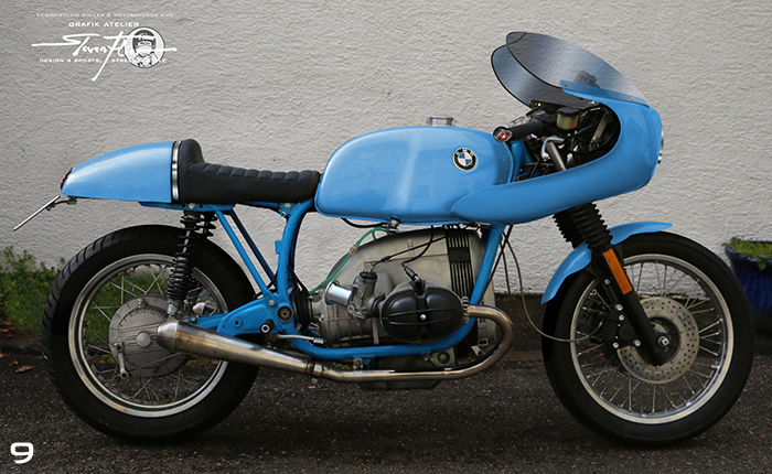 Virtual Tuning '78 BMW R100 Cafe Racer - Uni Blau / Plain Blue