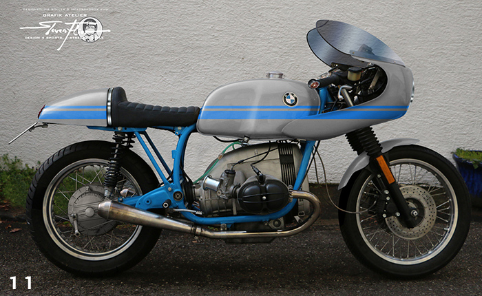Virtual Tuning '78 BMW R100 Cafe Racer - Design Studie Grau-Blau / Design Study Grey-Blue
