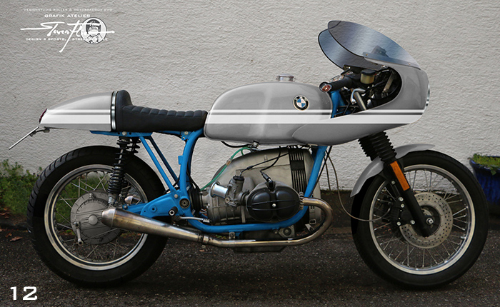 Virtual Tuning '78 BMW R100 Cafe Racer - Design Studie Grau-Weiß / Design Study Grey-White