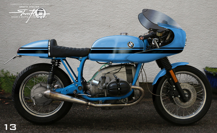Virtual Tuning '78 BMW R100 Cafe Racer - Design Studie Blau-Schwarz / Design Study Blue-Black