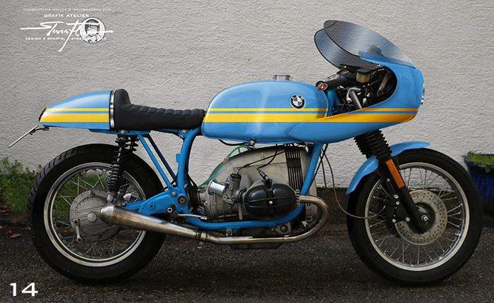 Virtual Tuning '78 BMW R100 Cafe Racer - Design Studie Blau-Gelb / Design Study Blue-Yellow