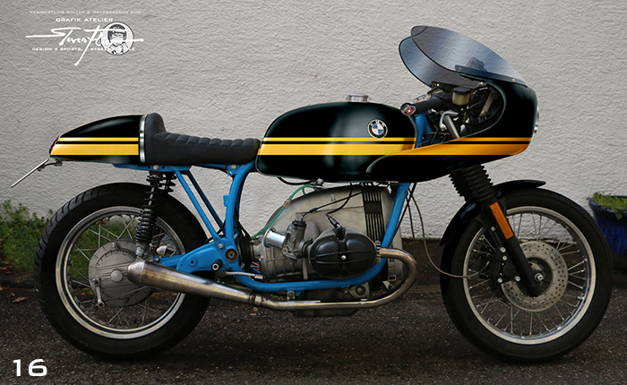 Virtual Tuning '78 BMW R100 Cafe Racer - Design Studie Schwarz-Gelb / Design Study Black-Yellow