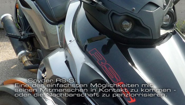Motor-Blog Steven Flier - Can-Am Spyder RS-S - Penzl Anlage